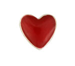 Heart Red - Enamel Charm